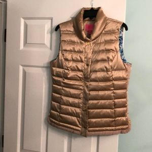Lilly Pulitzer gold puffer vest